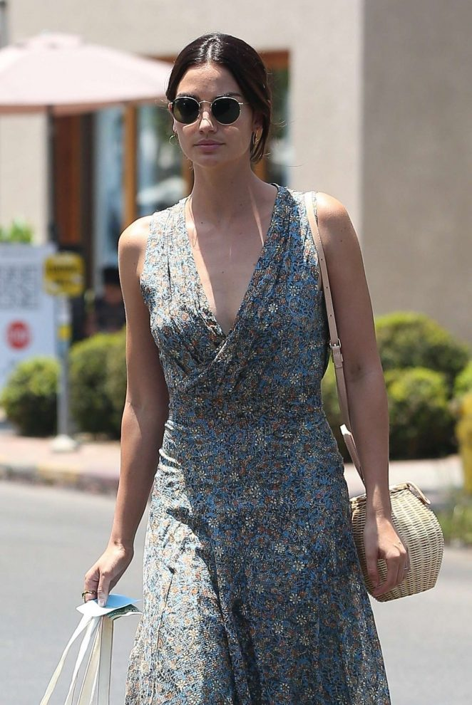 Lily Aldridge – Shopping at Isabel Marant in West Hollywood