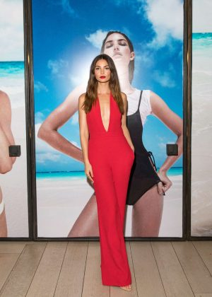 Lily Aldridge - Solid and Striped Swim Team Launch in New York City