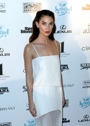 Lily Aldridge - Sports Illustrated Swimsuit 2016 Red Carpet in Miami Beach