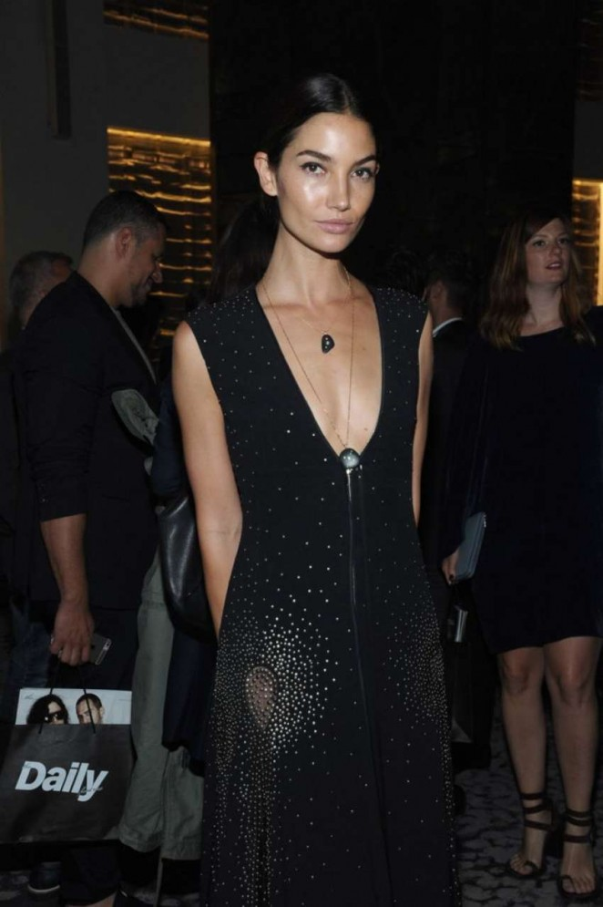 Lily Aldridge – The Daily Front Row Third Annual Fashion Media Awards in NYC