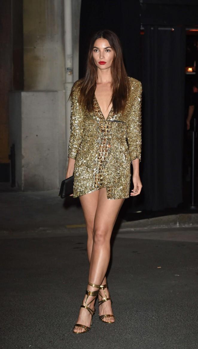 Lily Aldridge – Vogue 95th Anniversary Party in Paris