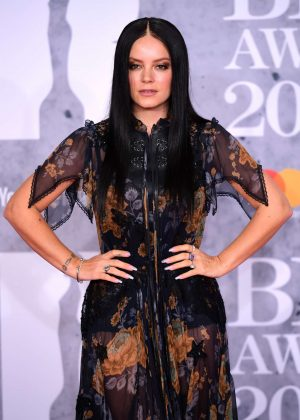 Lily Allen - 2019 BRIT Awards in London