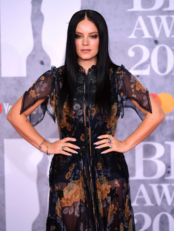 Lily Allen – 2019 BRIT Awards in London