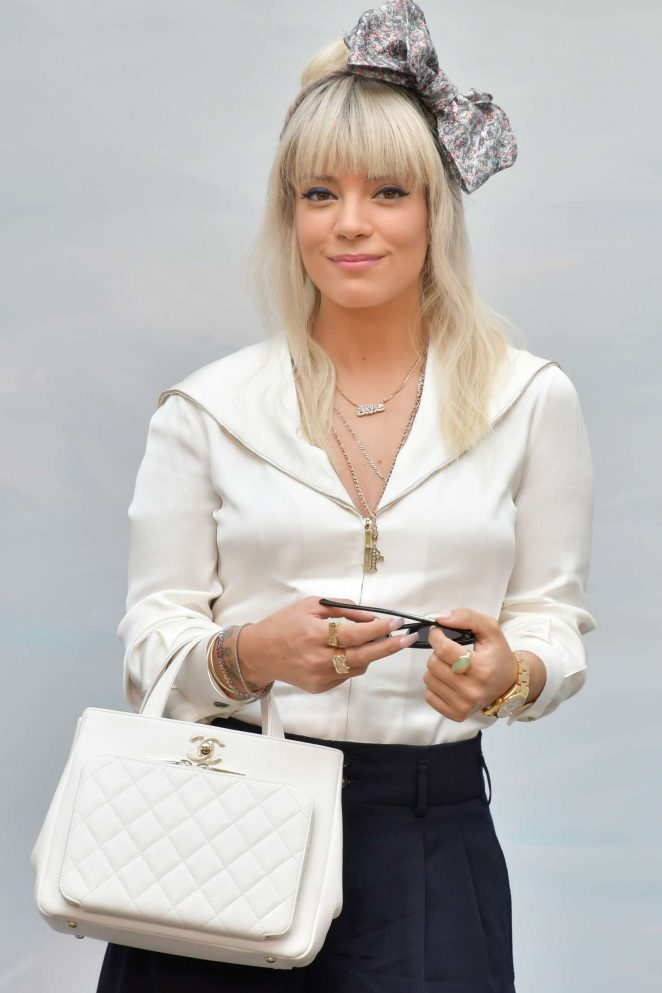 Lily Allen - Chanel Haute Couture Show 2019 in Paris