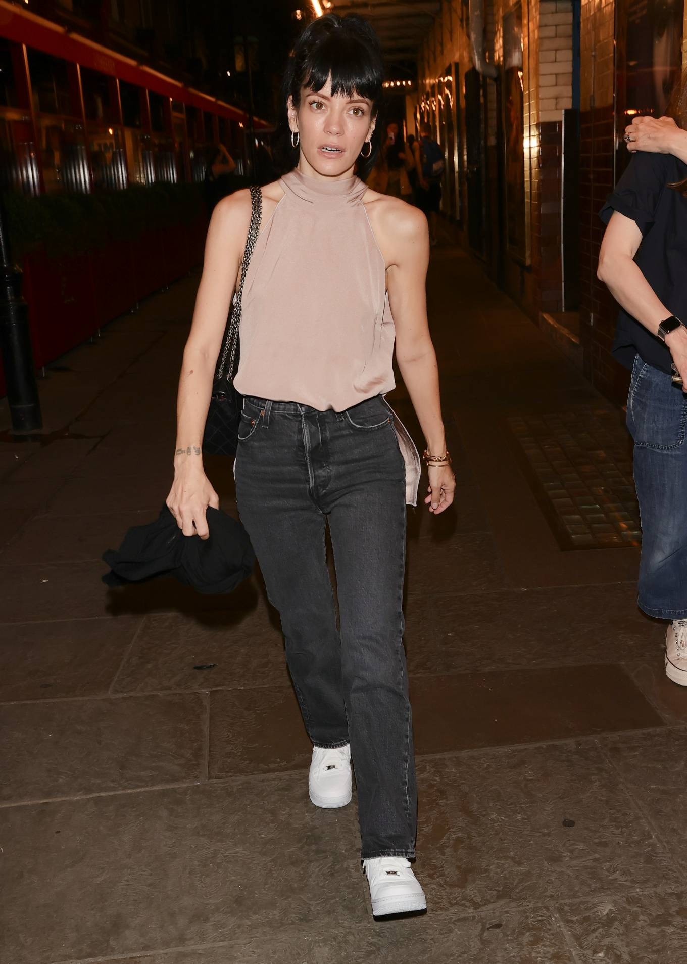 Lily Allen - In a denim at 22.2A Ghost Story theatre night in London