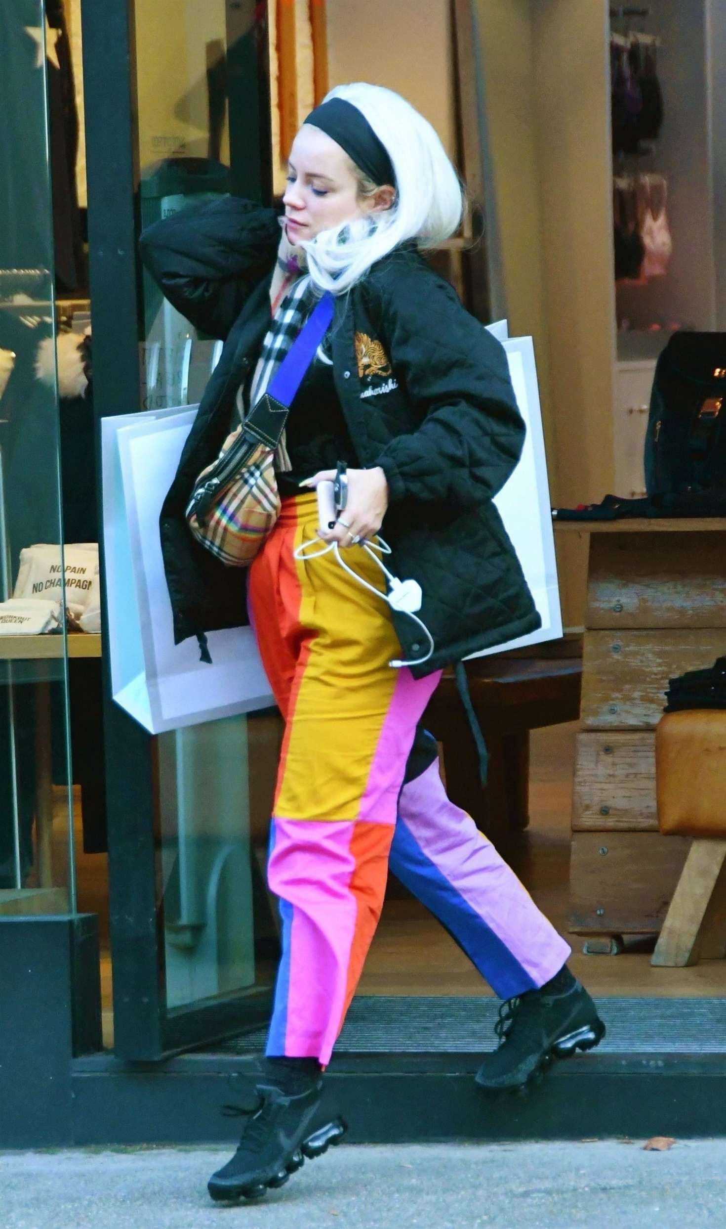 Lily Allen 2018 : Lily Allen in Colorful Pants -05