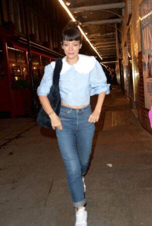 Lily Allen - Leaving the J Sheekey Restaurant in London