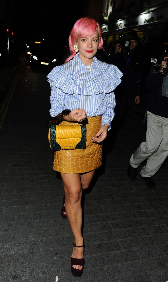Lily Allen - Love Magazine Party at Loulou's in London