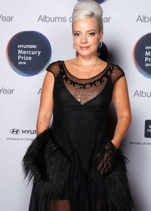 Lily Allen - Mercury Prize Albums of the Year in London