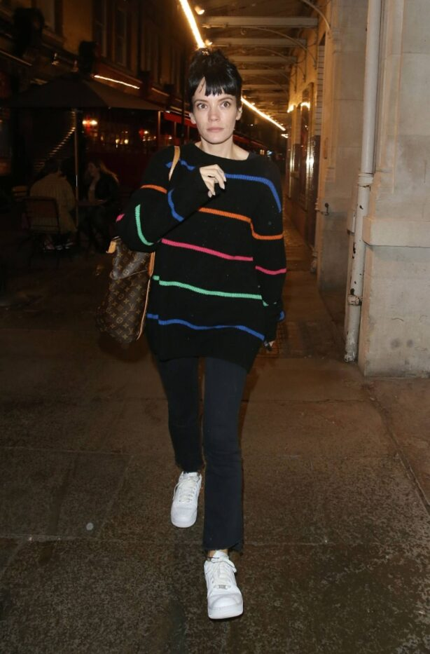 Lily Allen - night out in the West End - London