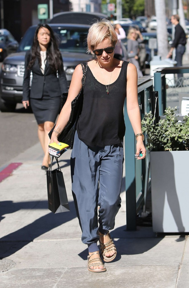 Lily Allen out and about in Los Angeles