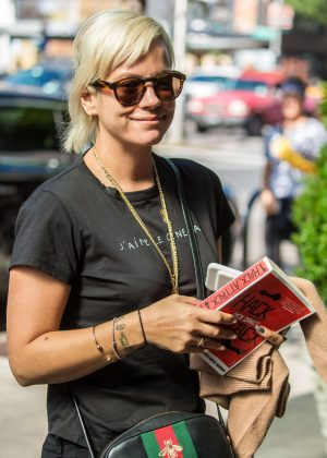 Lily Allen out in New York City