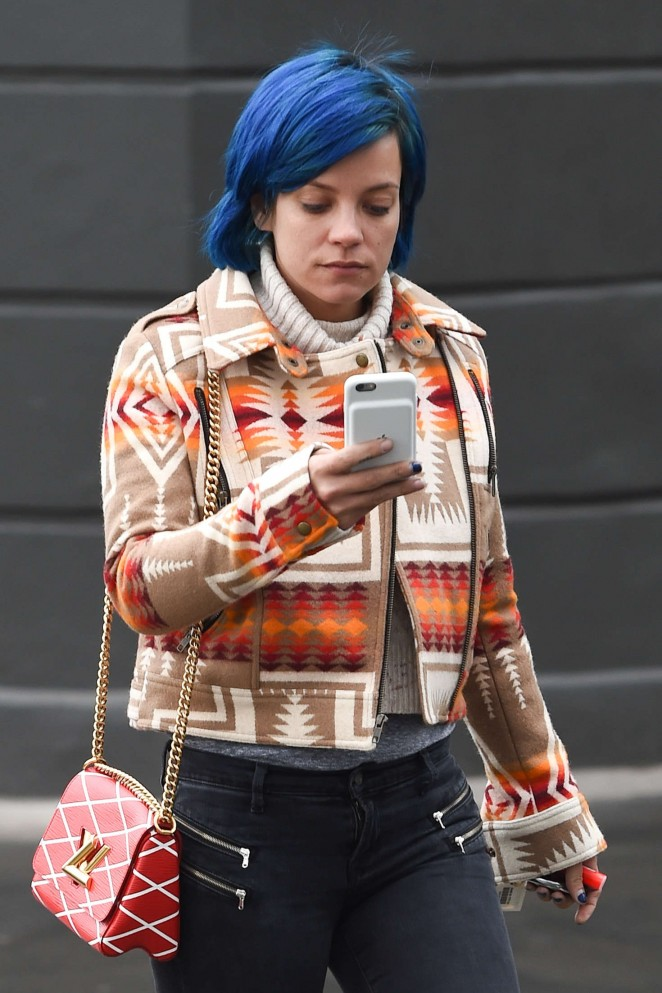 Lily Allen out in Notting Hill