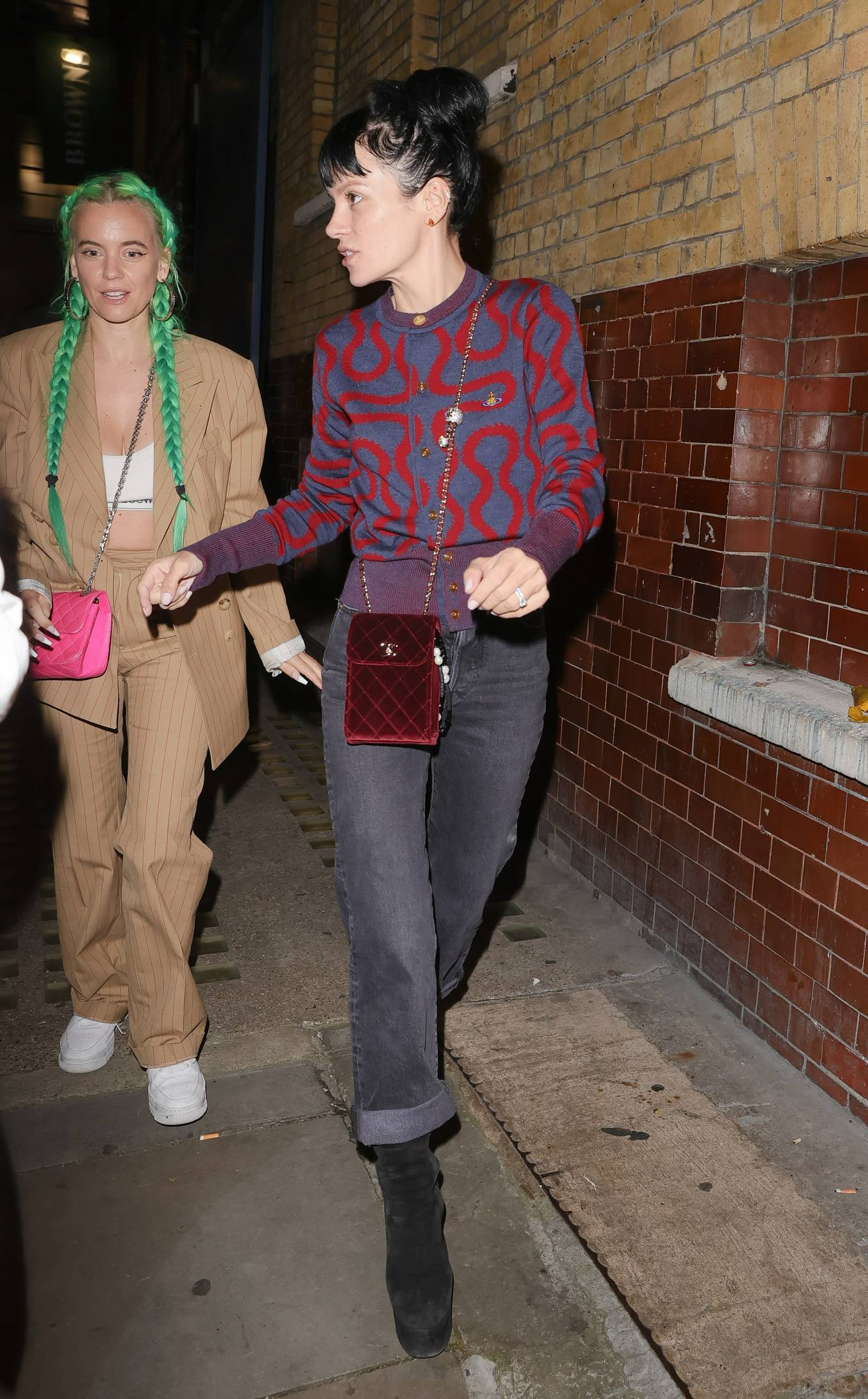 Lily Allen - Pictured at 2.22 Ghost Story theatre production in London