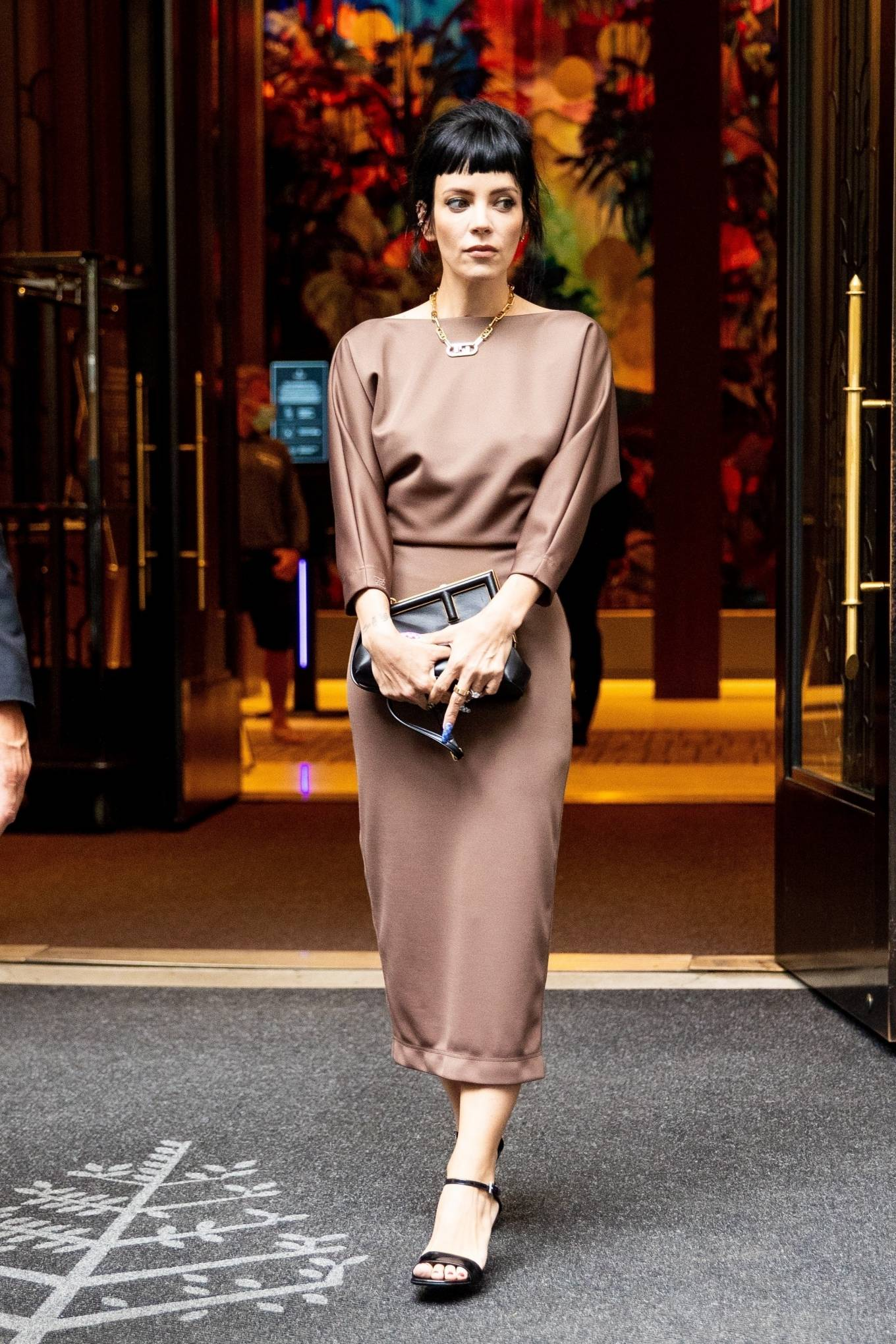 Lily Allen - Seen at her hotel in New York