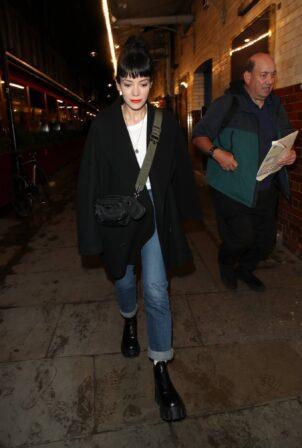 Lily Allen - Seen leaving the Noel Coward Theatre in London