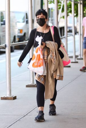 Lily Allen - Shopping at 'Happy Paws' pet store in Downtown Manhattan