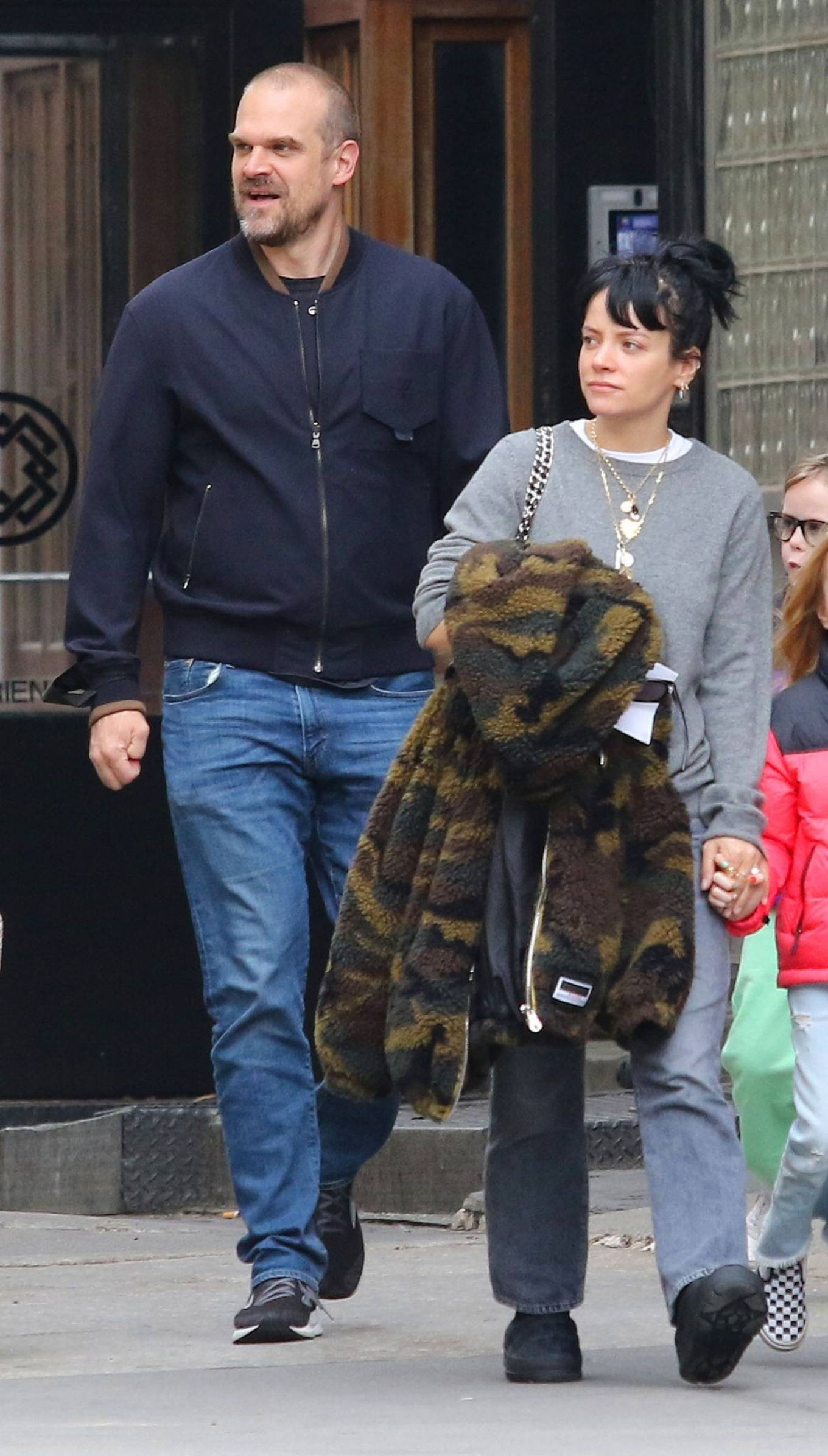Lily Allen 2021 : Lily Allen – walk out with her family in Manhattan-05