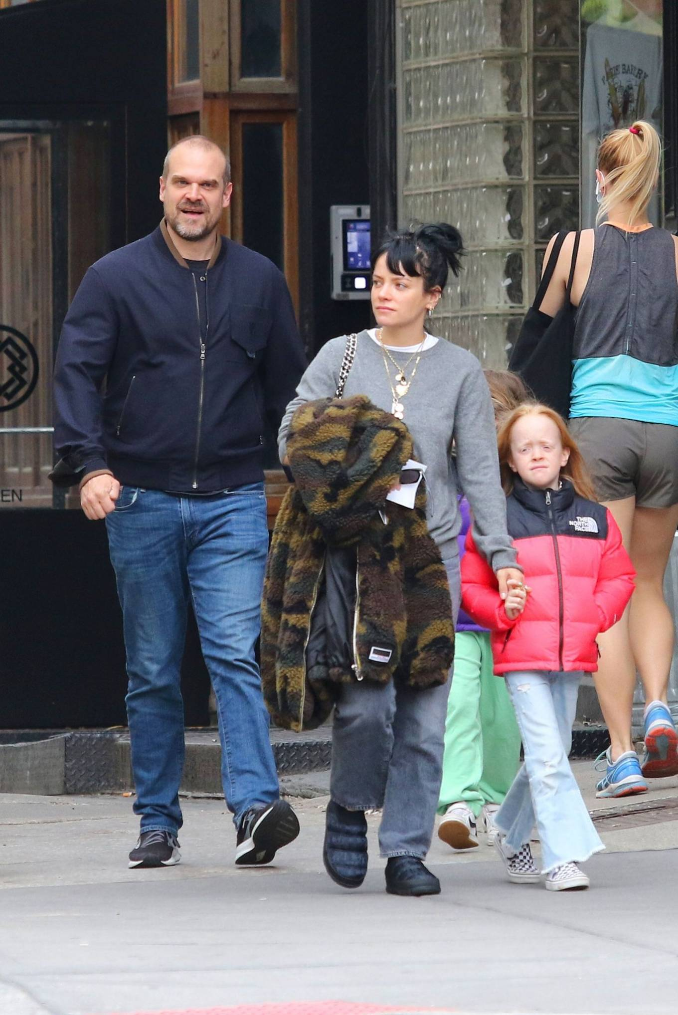 Lily Allen 2021 : Lily Allen – walk out with her family in Manhattan-11