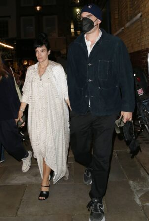 Lily Allen - With David Harbour leaving The Noel Coward Theatre in London