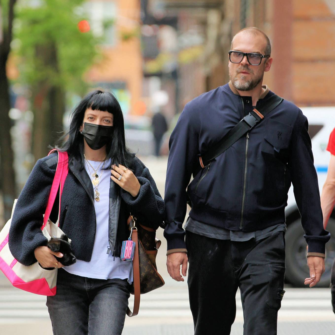 Lily Allen 2021 : Lily Allen – With David Harbour out for lunch in New York-04