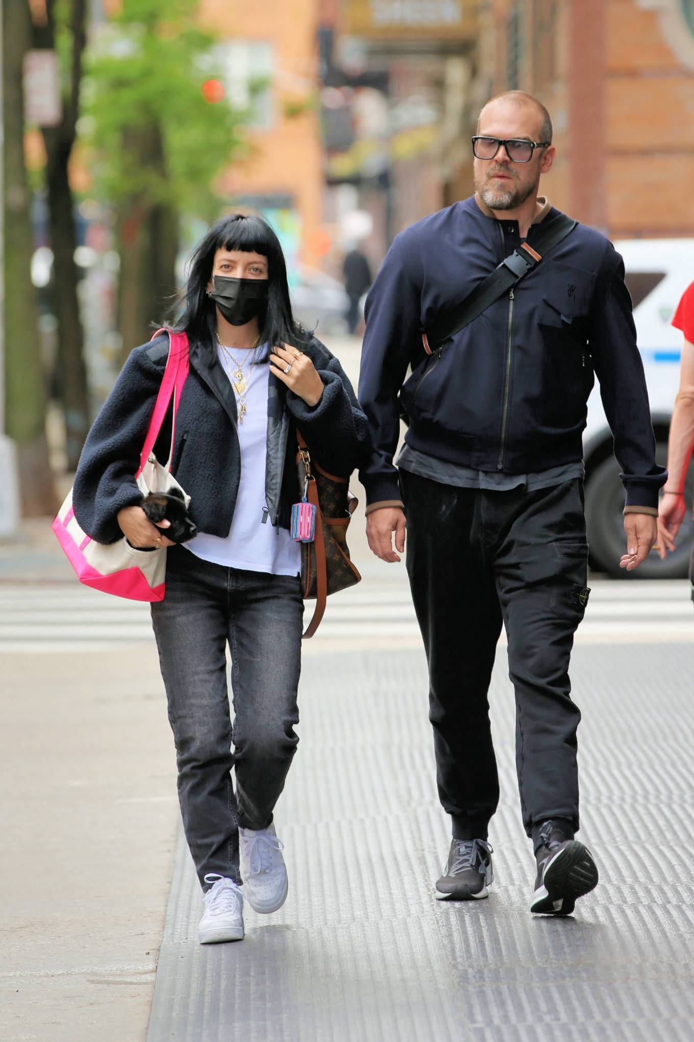 Lily Allen 2021 : Lily Allen – With David Harbour out for lunch in New York-10