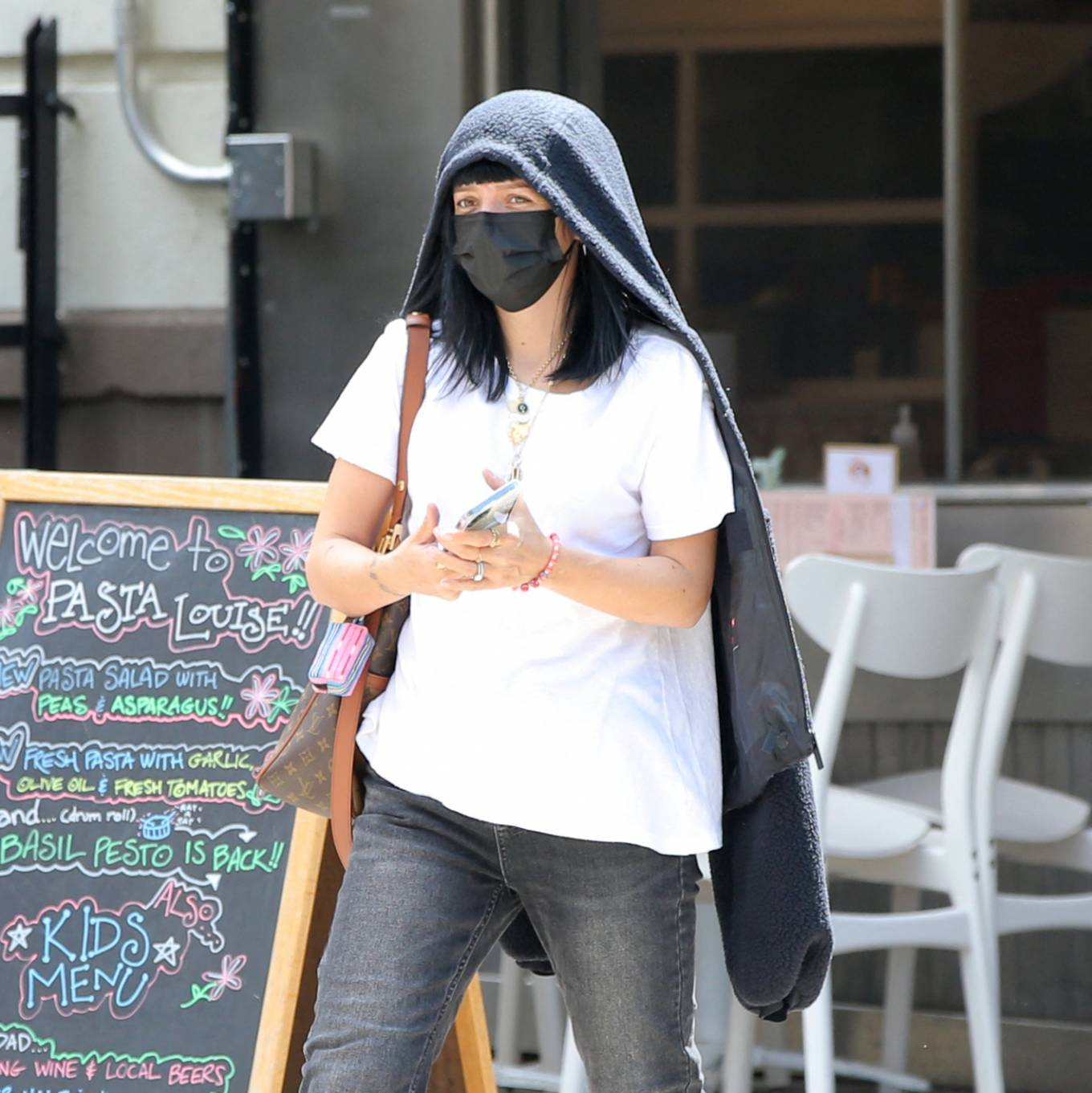 Lily Allen 2021 : Lily Allen – With David Harbour out for lunch in New York-14