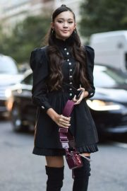 Lily Chee - Outside of the Marc Jacobs Show at New York Fashion Week
