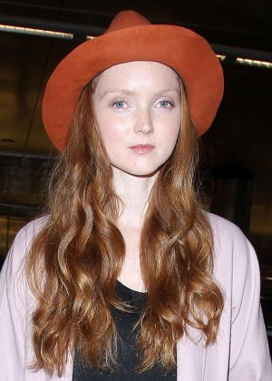 Lily Cole - Arriving at the Los Angeles International Airport