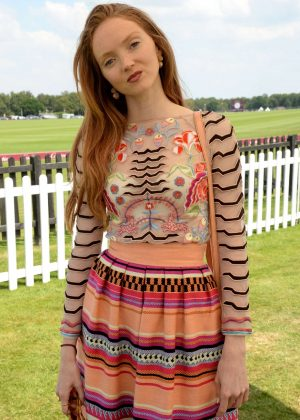 Lily Cole - Cartier Queen's Cup Polo Final in Surrey