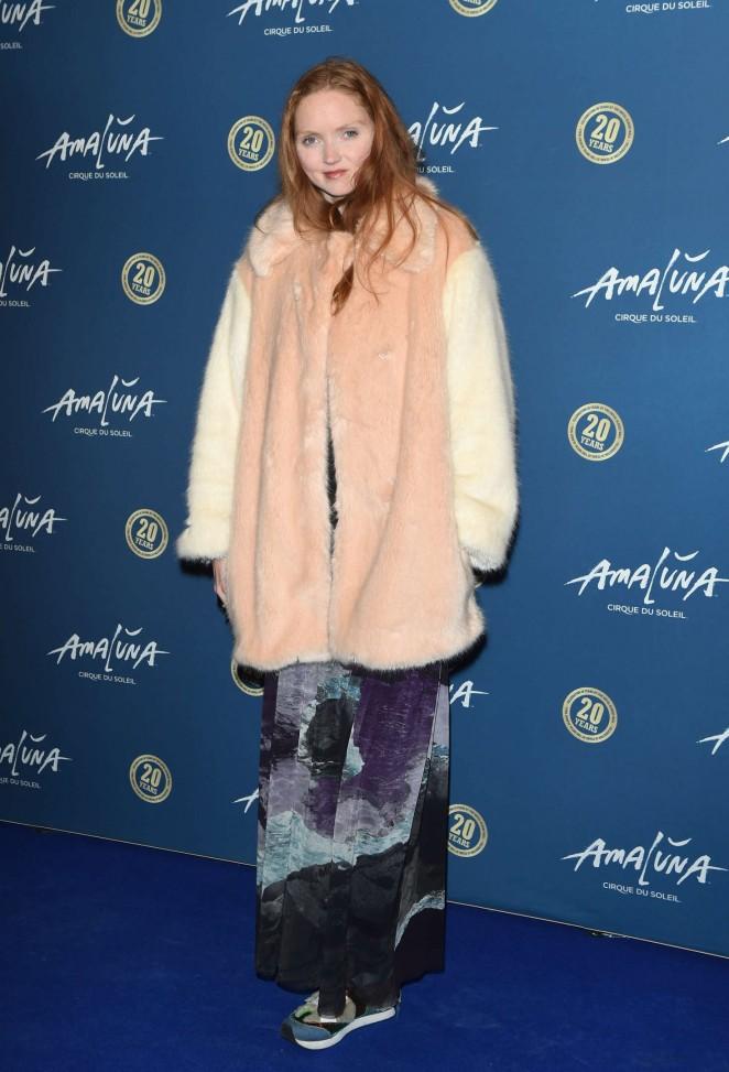 Lily Cole - 'Cirque du Soleil: Amaluna' Press Night in London
