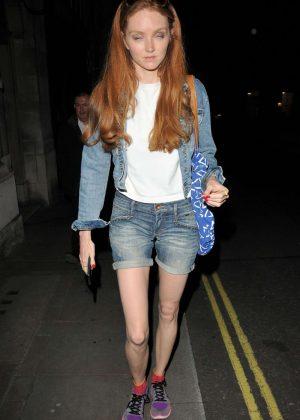 Lily Cole - Leaves Trafalgar Studios in London