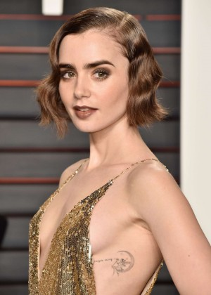 Lily Collins - 2016 Vanity Fair Oscar Party in Beverly Hills