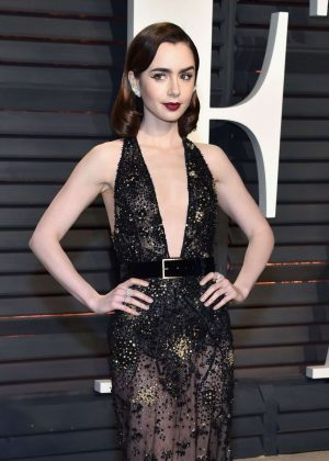 Lily Collins - 2017 Vanity Fair Oscar Party in Hollywood