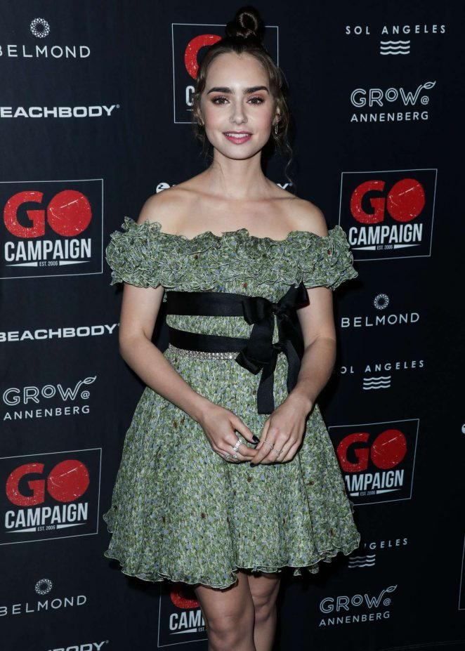 Lily Collins - 2018 GO Campaign Gala in Los Angeles