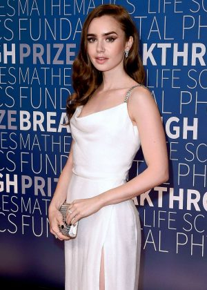 Lily Collins - 2019 Breakthrough Prize in Mountain View