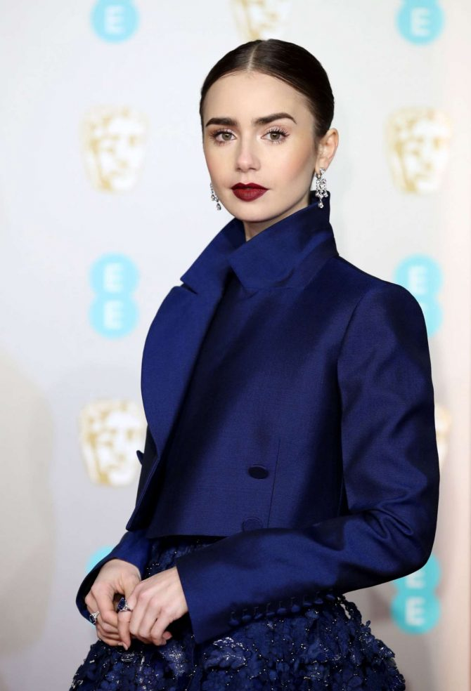 Lily Collins – 2019 British Academy Film Awards in London