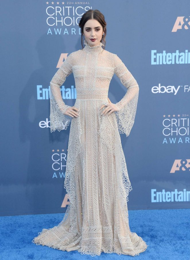 Lily Collins - 22nd Annual Critics' Choice Awards in Los Angeles