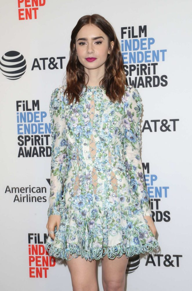 Lily Collins -  33rd Film Independent Spirit Awards nominees announcement in LA