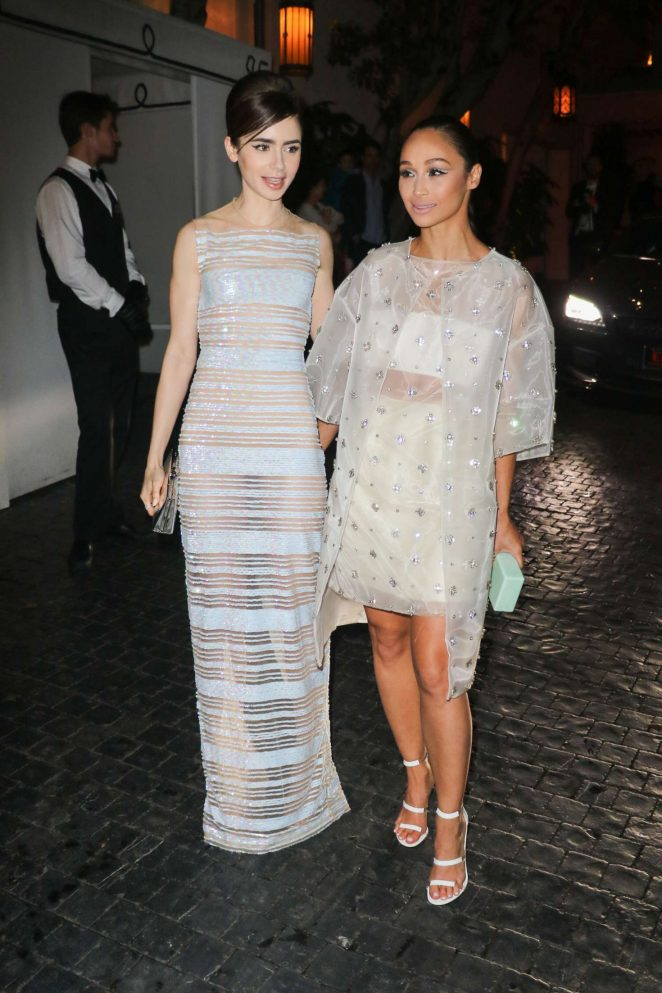 Lily Collins and Cara Santana - Audi Arrivals at W Magazine's Best Performances Party in LA