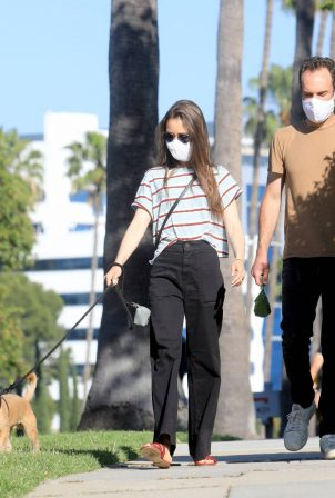 Lily Collins and Charlie McDowell - Out for a walk in Beverly Hills