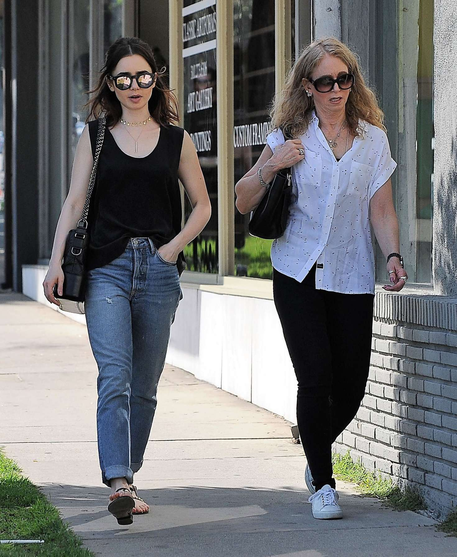 Lily Collins And Her Mother Jill Tavelman Out In West Hollywood 17 Gotceleb She is an actress, known for extra (1994). lily collins and her mother jill