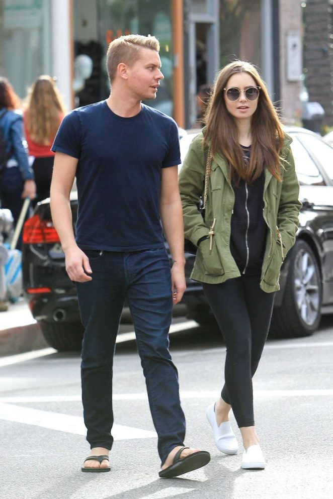 Lily Collins and Johnny Harper - Shopping in Beverly Hills