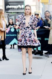 Lily Collins - Arrives at AOL Build in NYC