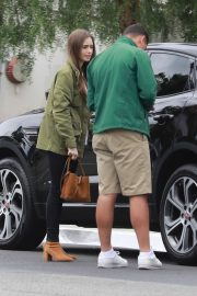 Lily Collins - Arrives at the San Vicente Hotel in West Hollywood
