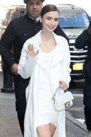 Lily Collins - Arriving at 'Good Morning America' in NYC