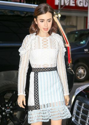 Lily Collins - Arriving at the Today Show in New York City