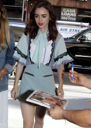Lily Collins - Arriving at the 'Today' Show in NYC