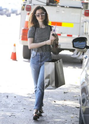 Lily Collins at Blackwood Coffee out in Los Angeles