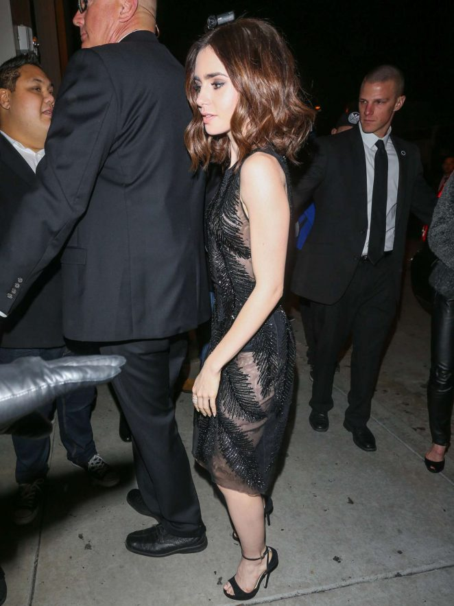 Lily Collins at Catch Resturant in Los Angeles